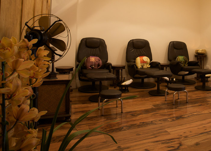 Foot aroma massage area